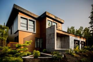 Architecture house maison outdoor blue wood