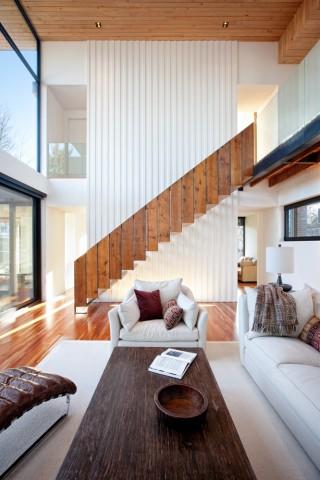 Architecture wood white